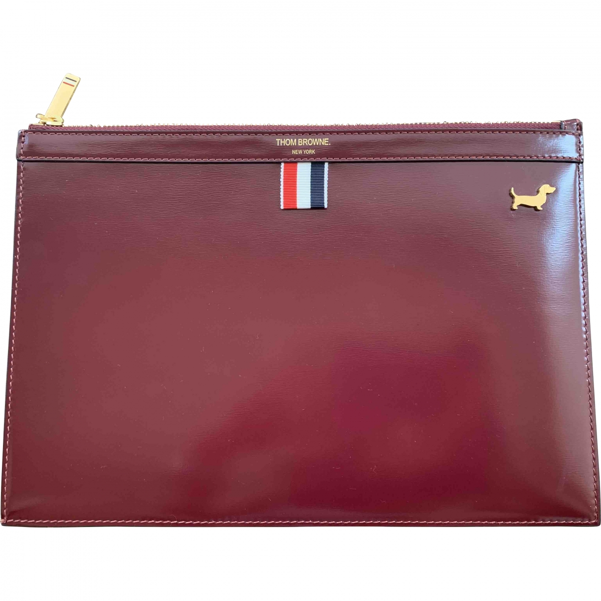 Thom Browne \N Burgundy Patent leather Clutch bag for Women \N