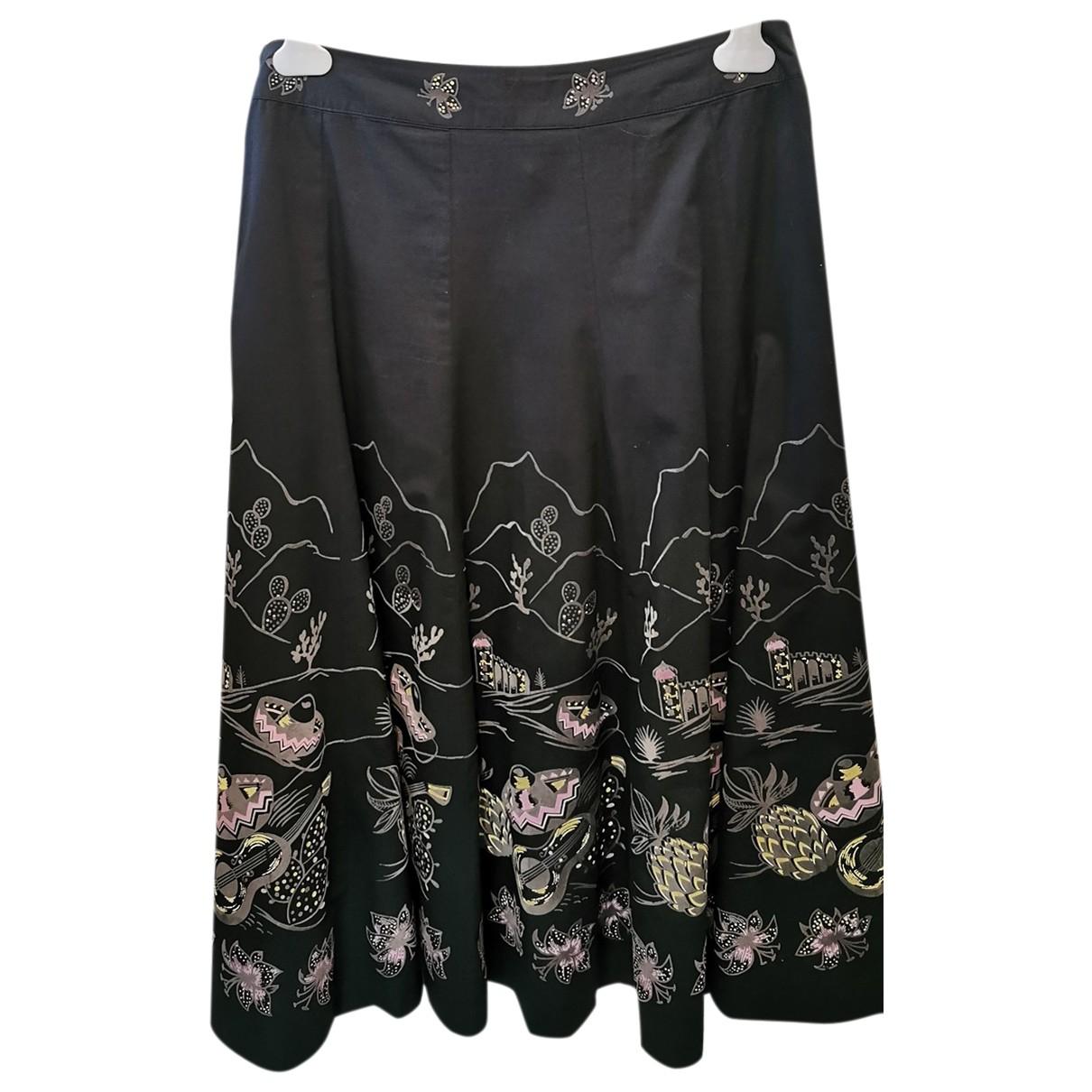 American Retro \N Black Cotton skirt for Women 42 FR