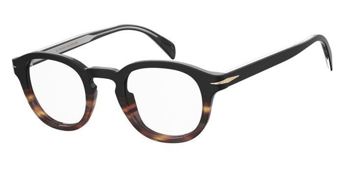 David Beckham DB 7017 W4A Men's Glasses Black Size 46 - Free Lenses - HSA/FSA Insurance - Blue Light Block Available
