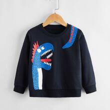 Toddler Boys Cartoon Graphic Sweatshirt