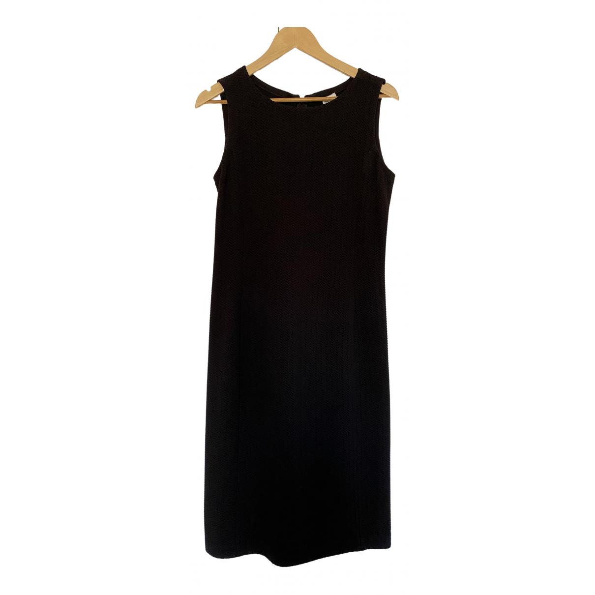 Armani Collezioni \N Kleid in  Schwarz Baumwolle - Elasthan