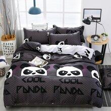 Cartoon Panda Print Bedding Set Without Filler