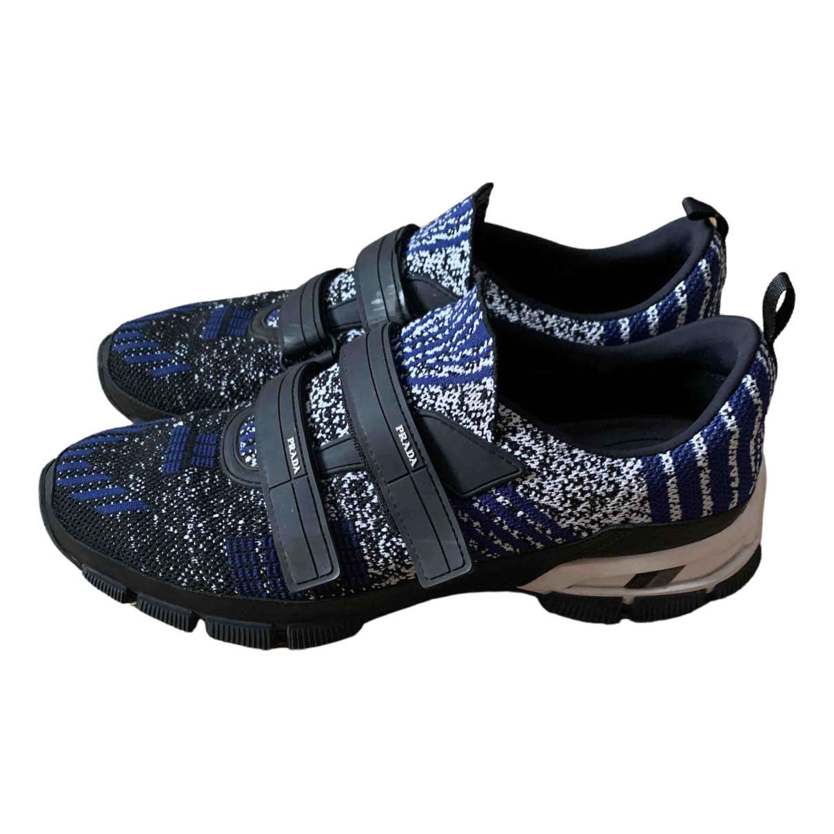 Prada Cloudbust Sneakers in  Blau Leinen
