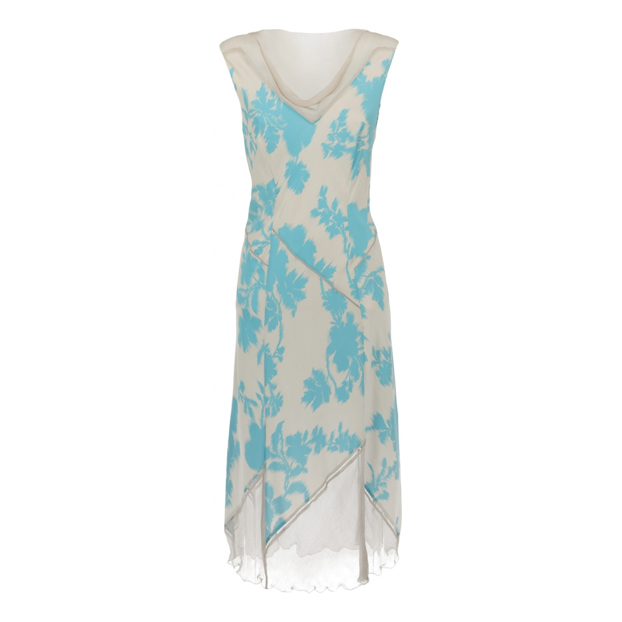 Alberta Ferretti \N Kleid in  Blau Seide