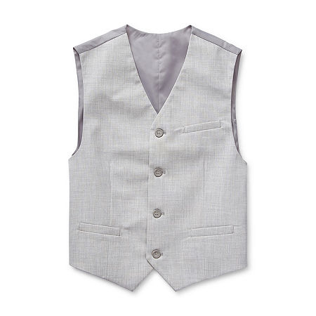 Van Heusen Flex Big Boys Vest, Large (14-16) , Gray