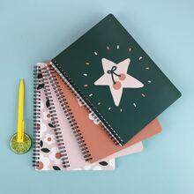 1 Pack Zufaelliges Notizbuch mit gemischtem Muster Decke