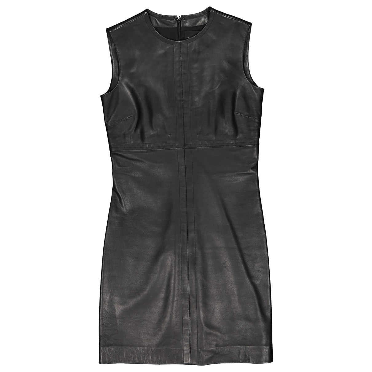 Barneys New York \N Kleid in  Schwarz Leder