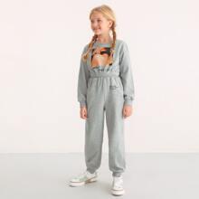 Pullover & Jogginghose Set mit Buchstaben & Figur Grafik