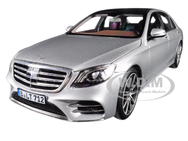 2018 Mercedes S Class AMG Line Silver Metallic 1/18 Diecast Model Car by Norev