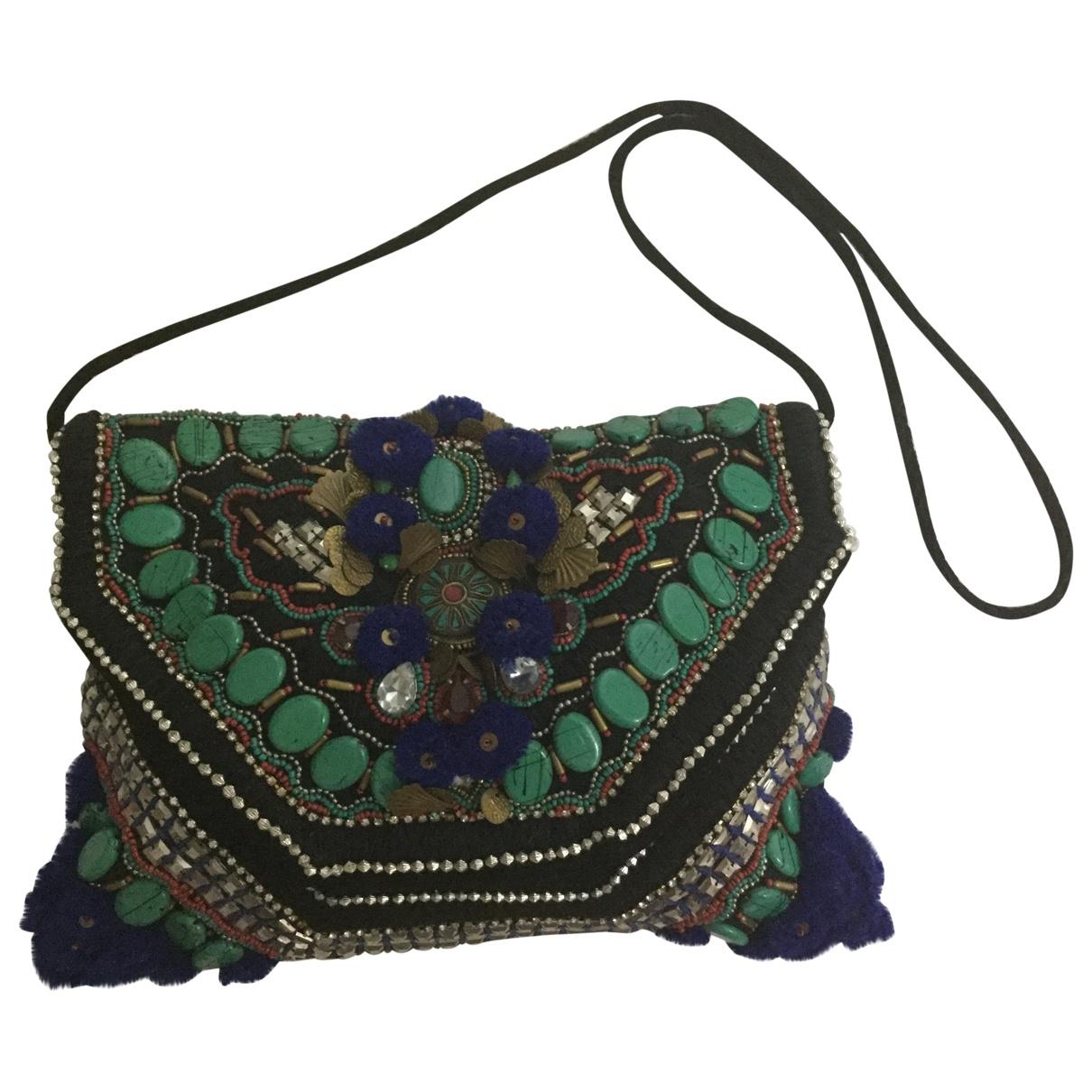 Antik Batik \N Handtasche in  Bunt Veloursleder