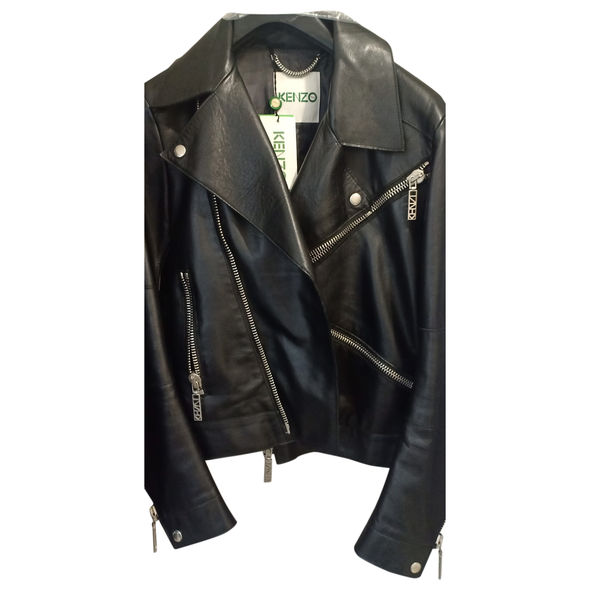 Kenzo \N Black Leather jacket  for Men M International