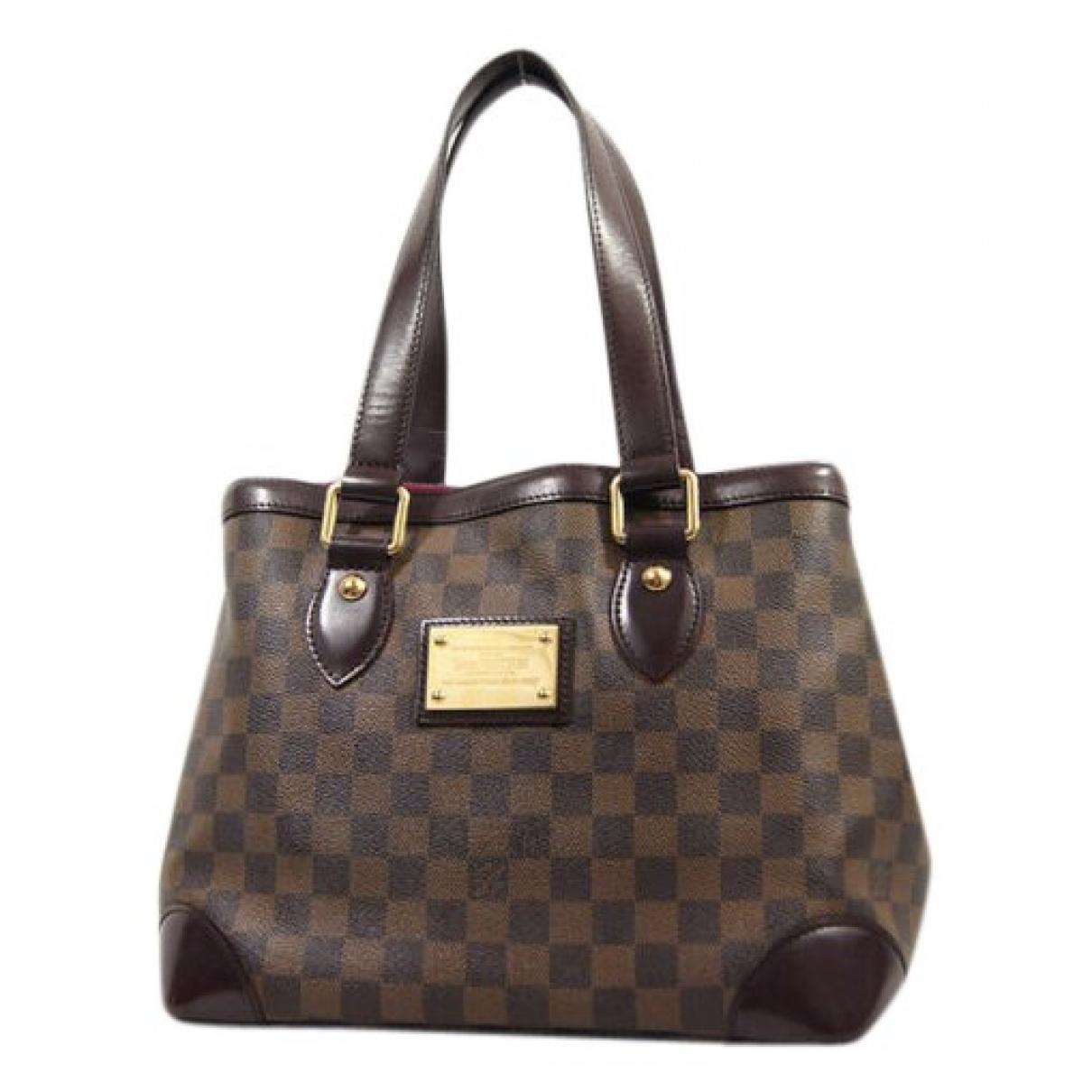 Louis Vuitton - Sac a main Hampstead pour femme en toile - marron