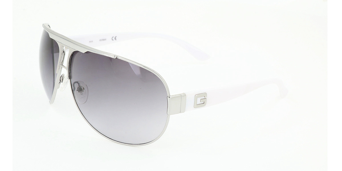 Guess GU 0105F Asian Fit Q87 Men's Sunglasses Silver Size 69