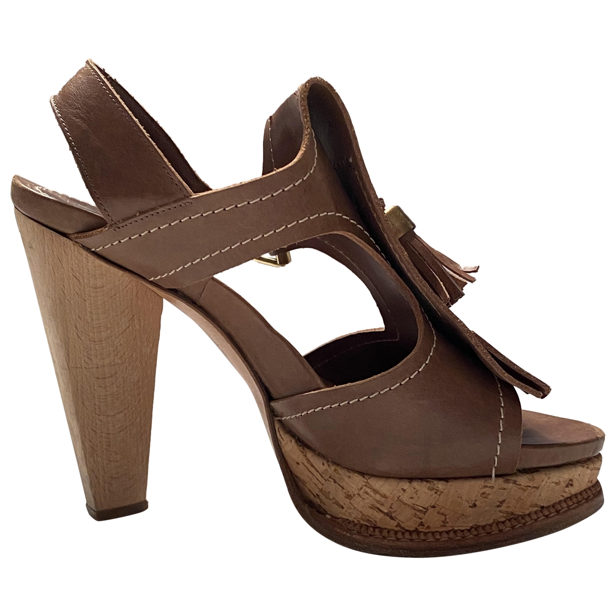 Etro \N Brown Leather Sandals for Women 37 IT