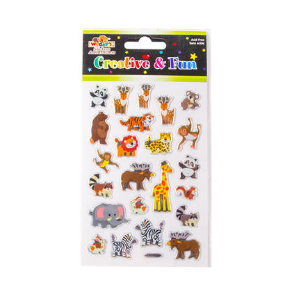 Wild Animals Self-Adhesive Crystal Foil Stickers for Arts & Crafts, 4