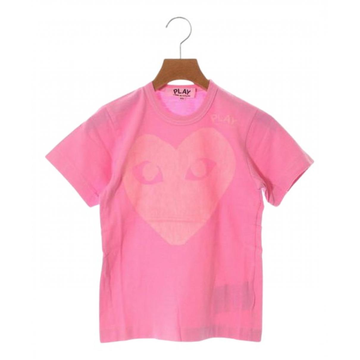 Play Comme Des Garçons N Pink Cotton  top for Women XS International
