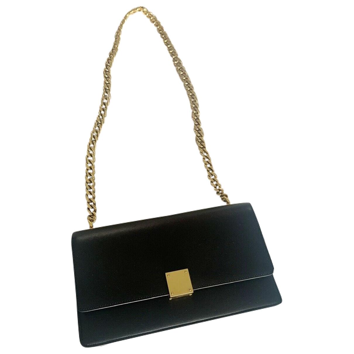 Celine Case flap Handtasche in  Schwarz Leder