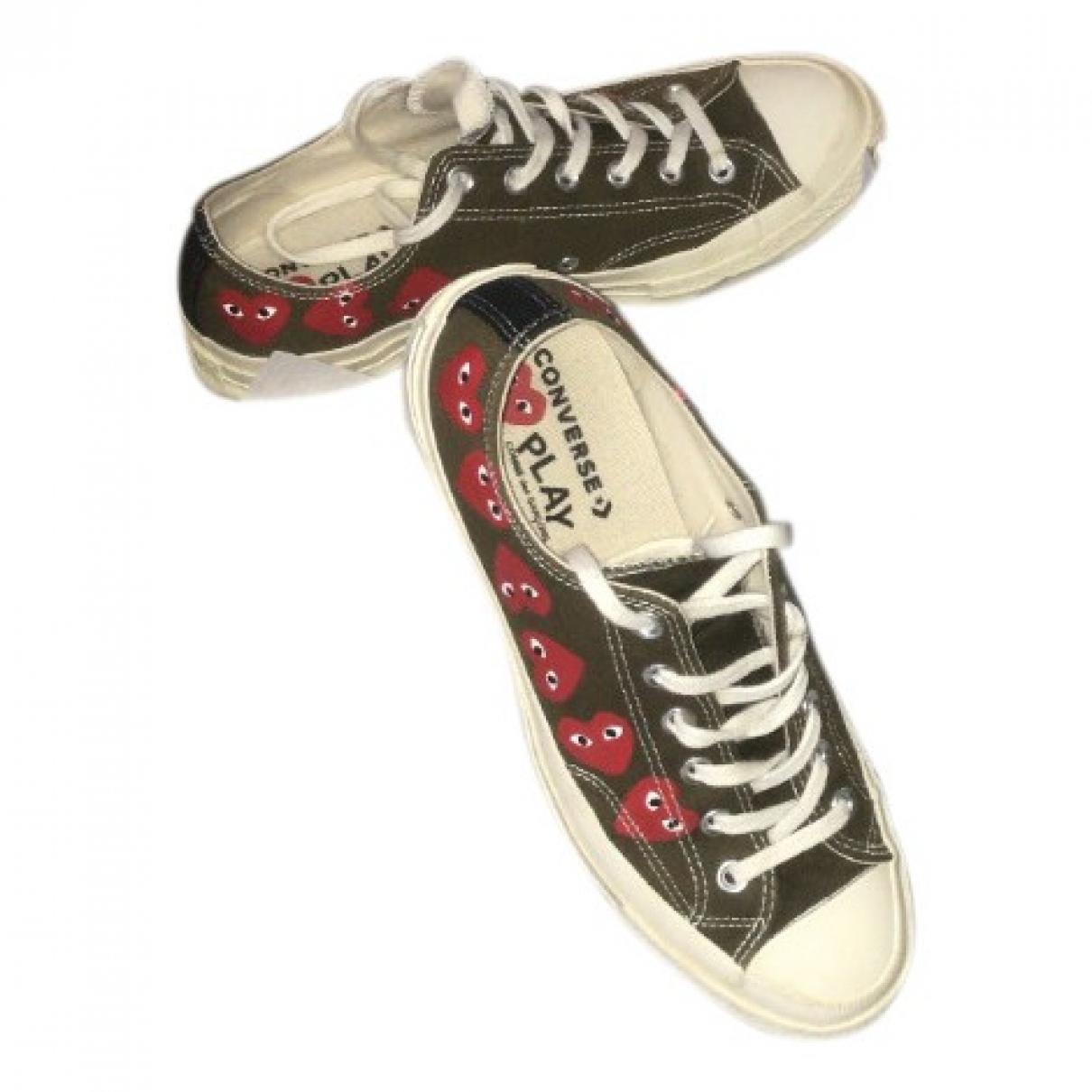 Play Comme Des Garcons \N Sneakers in  Khaki Leinen