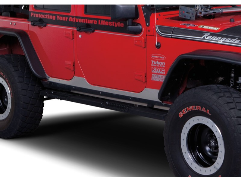Warrior Products 5520 HD Aluminum Sideplates Below Door Only 4 Door Jeep JK Wrangler 07-17