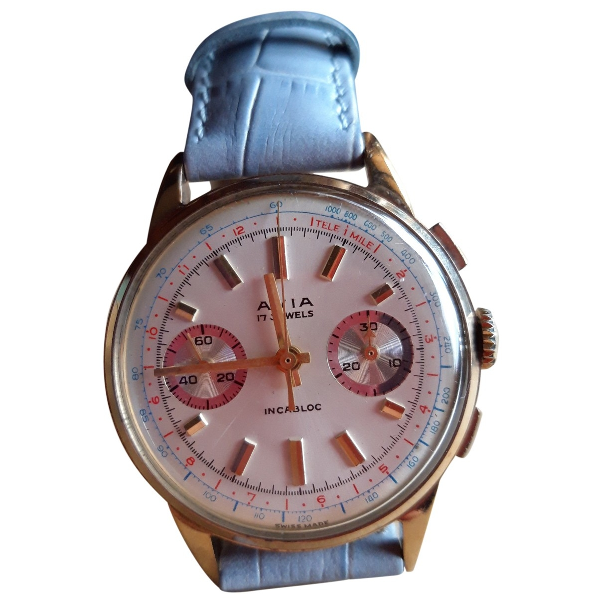 Non Signé / Unsigned \N Yellow gold watch for Men \N