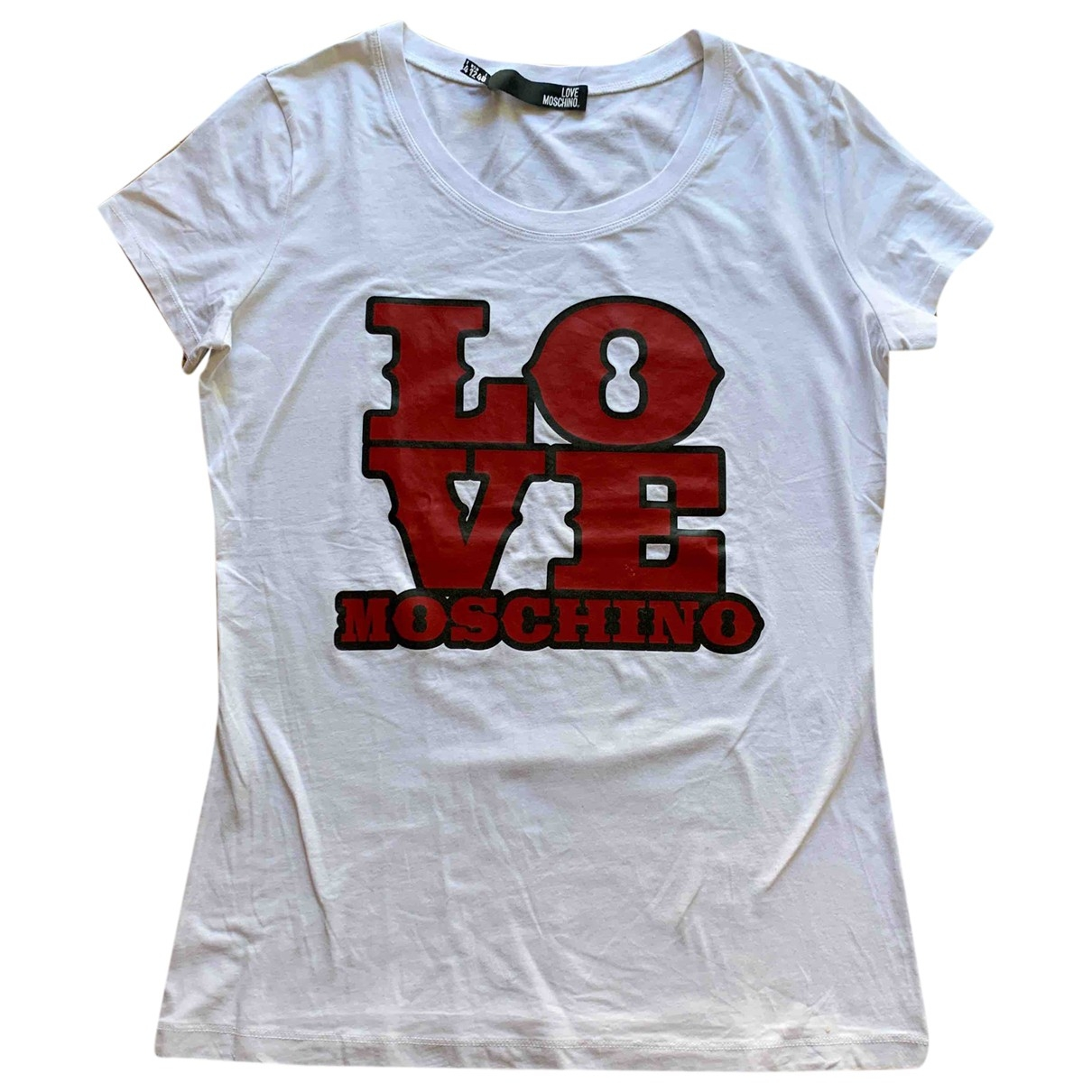 Moschino Love \N White Cotton  top for Women 12 US