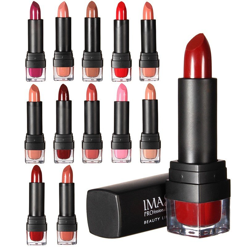 IMAGIC 12 Colors Women Lipstick Long Lasting Lip Gloss Beauty Cosmetic Tool