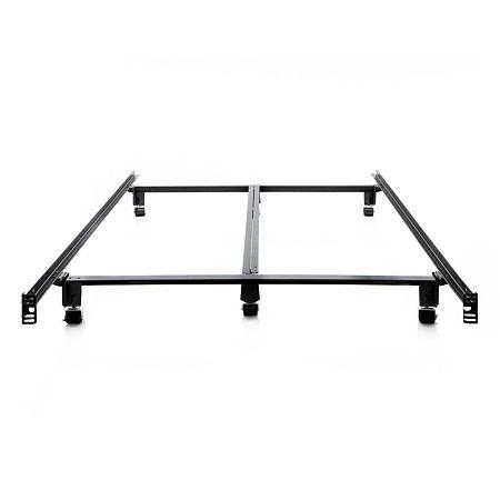 Malouf Steelock Super Duty Steel Metal Bed Frame, One Size , Black