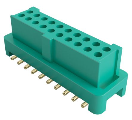 HARWIN , Gecko 1.25mm Pitch 6 Way 2 Row Straight PCB Socket, Surface Mount, Solder Termination