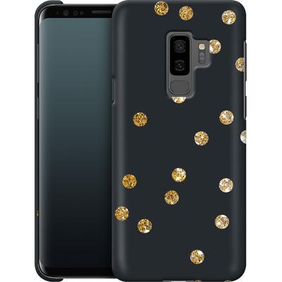 Samsung Galaxy S9 Plus Smartphone Huelle - Gold Dots von Khristian Howell