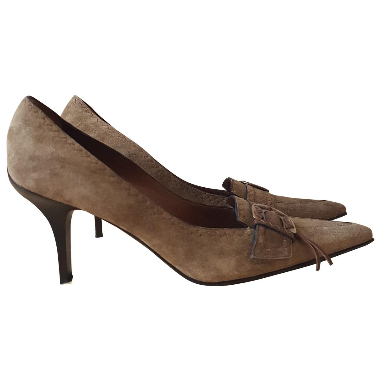 Casadei \N Beige Suede Heels for Women 38.5 EU