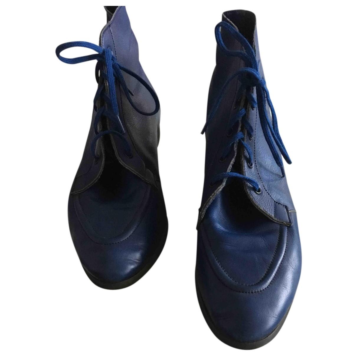 Botas con cordones de Cuero Jean Paul Gaultier