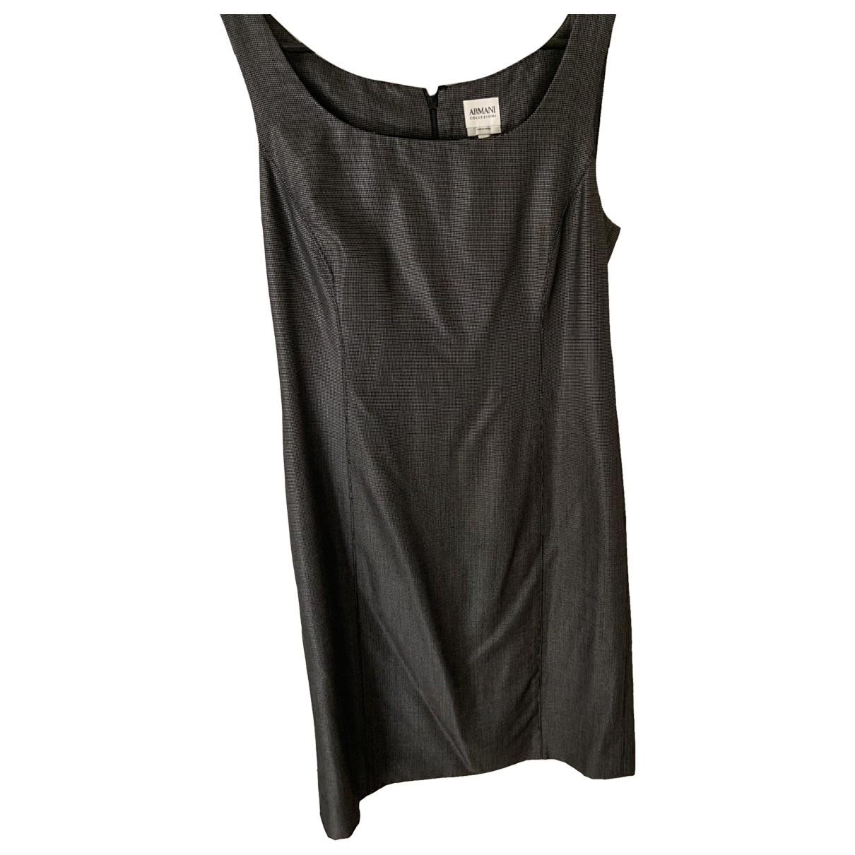 Armani Collezioni \N Kleid in  Grau Wolle