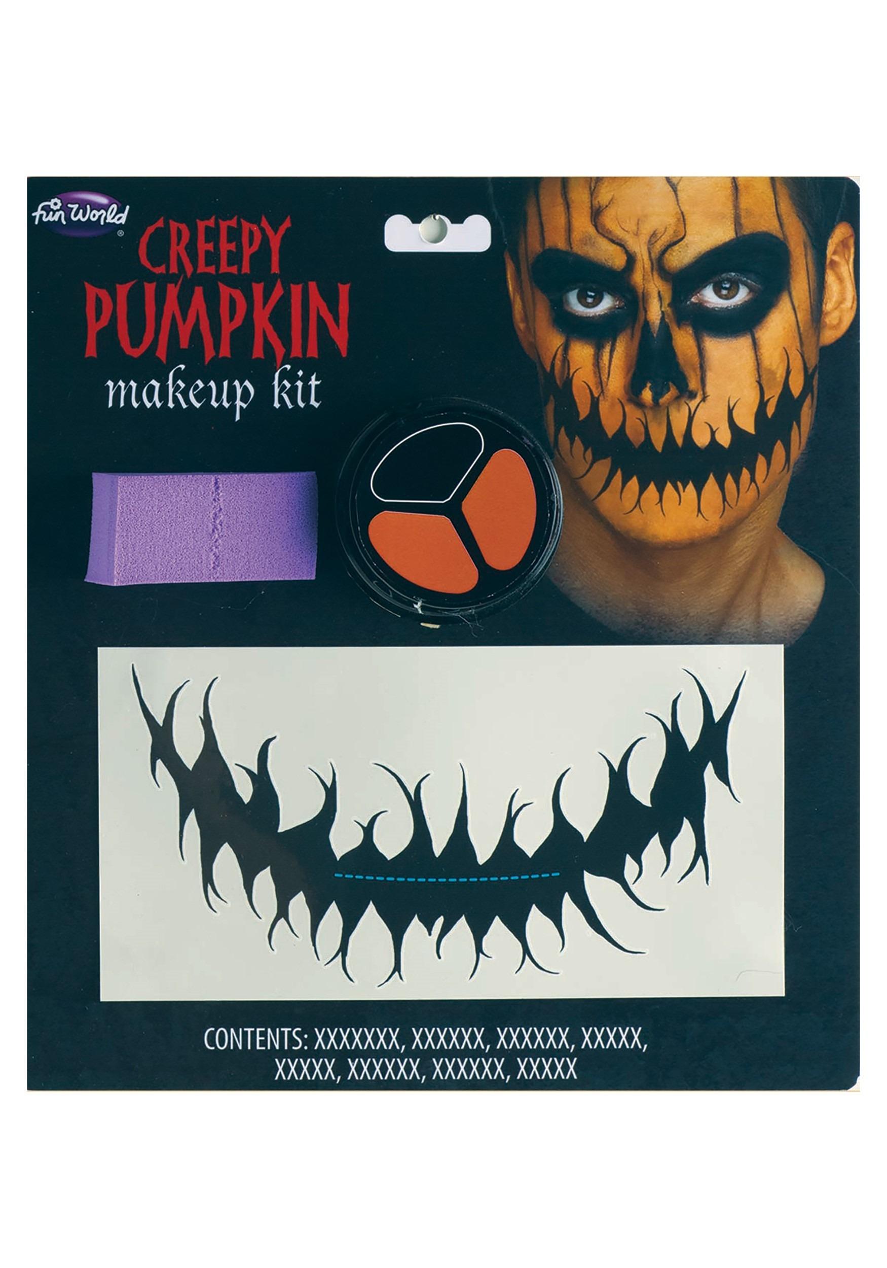 Creepy Halloween Pumpkin Makeup Kit