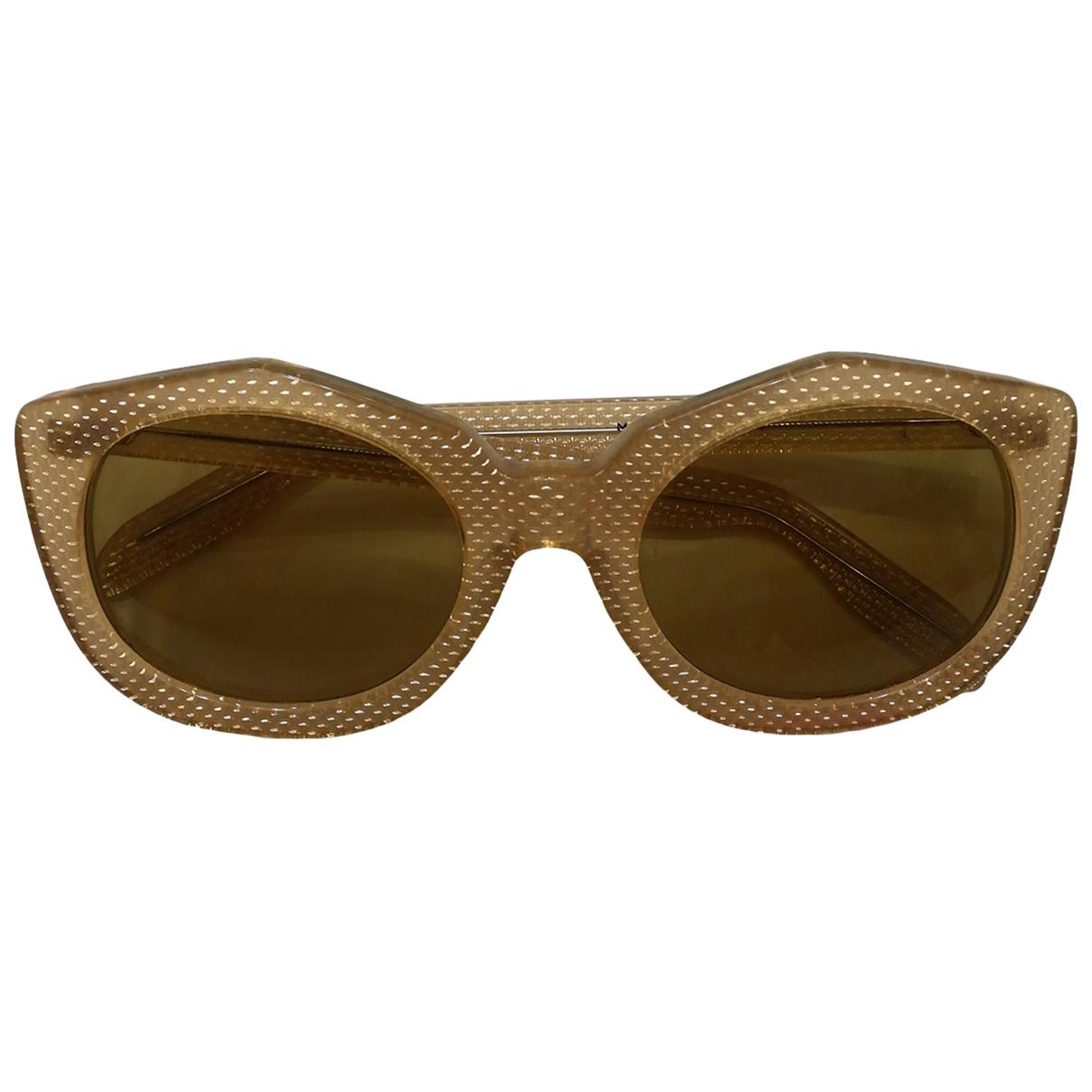 Non Signe / Unsigned \N Sonnenbrillen in  Gelb Kunststoff