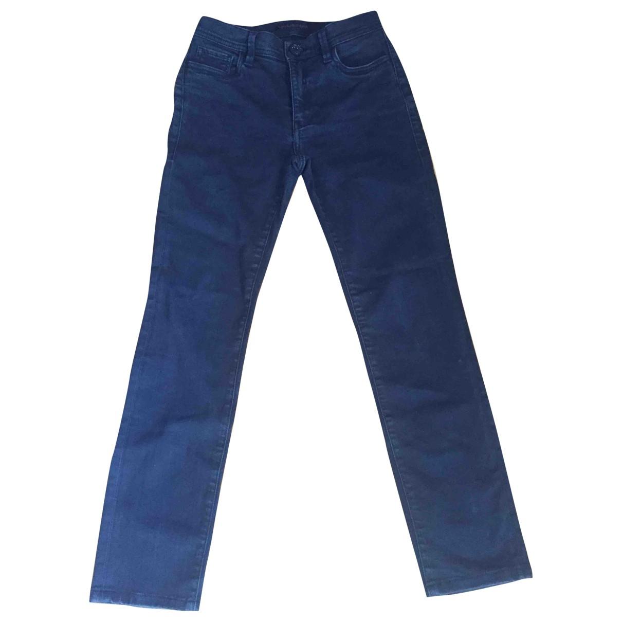 Trussardi Jeans \N Black Cotton - elasthane Jeans for Women 35 FR