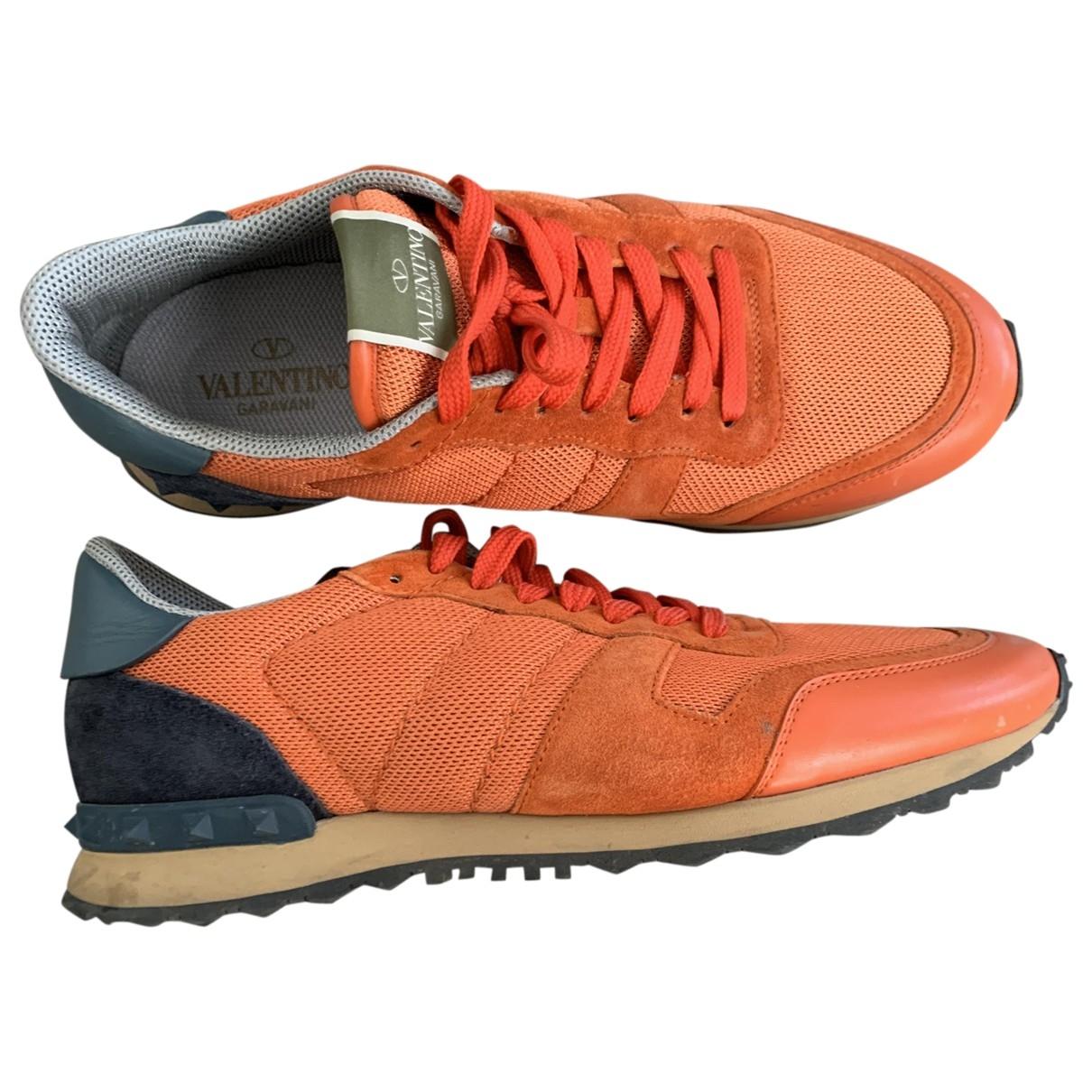 Valentino Garavani - Baskets   pour homme en toile - orange