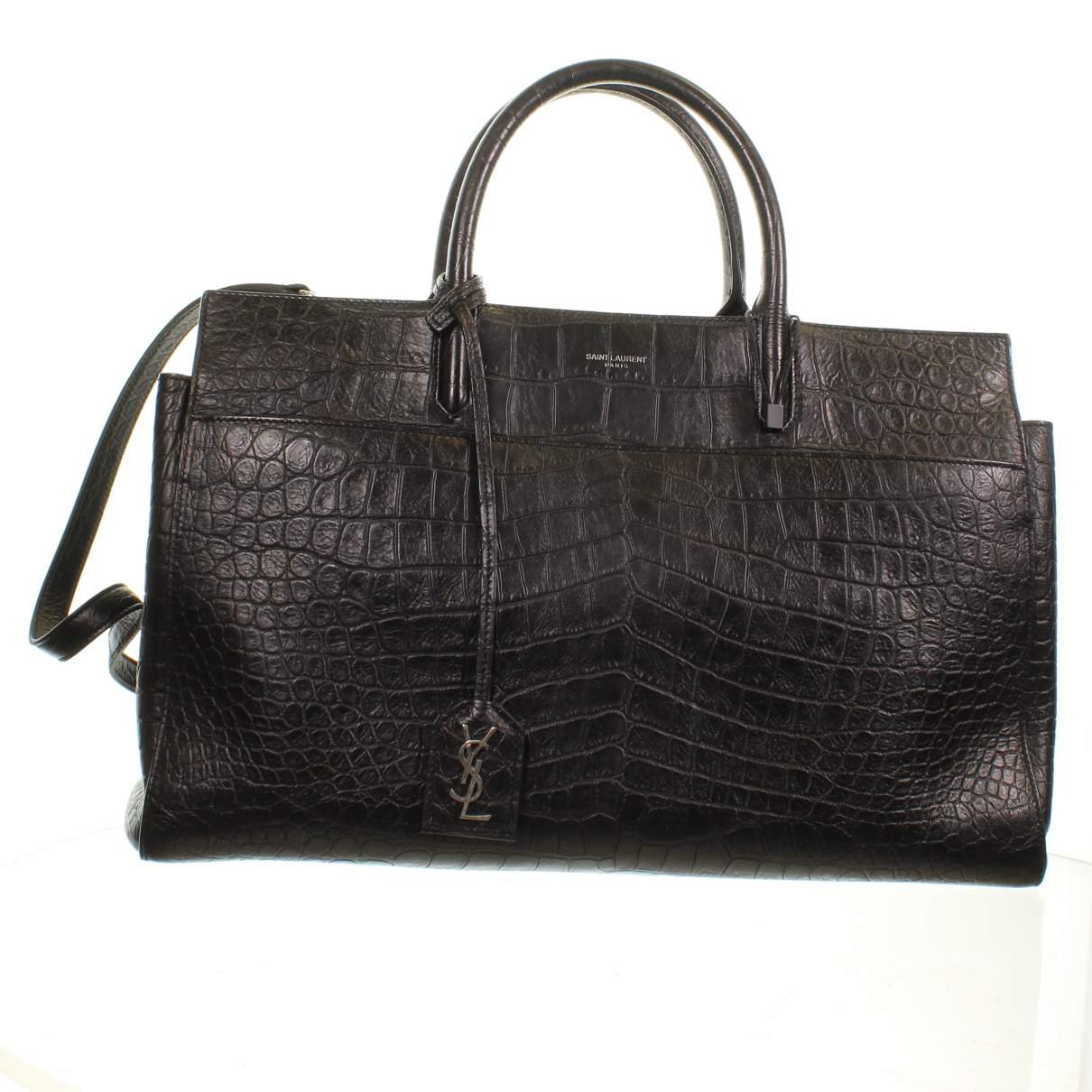 Saint Laurent Cabas Rive Gauche Black Leather handbag for Women N
