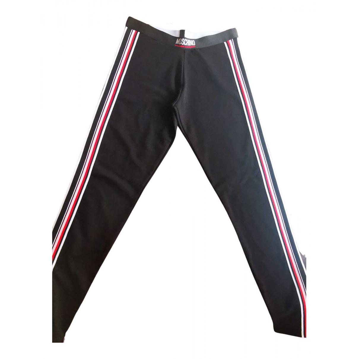 Moschino - Pantalon   pour femme en coton - noir