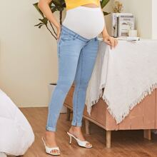 Maternity Underbelly Rolled Skinny Jeans