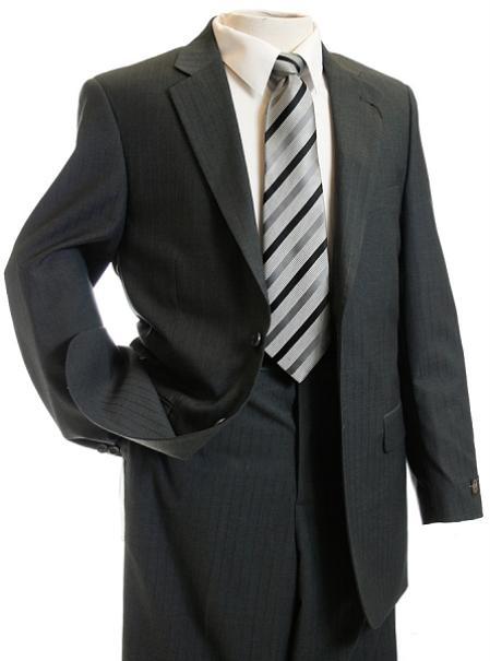 Mens Gray TNT Pin Designer Suit
