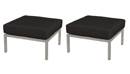 TKC065b-O-DB-BLACK Carlisle Ottoman 2 Per Box - Beige and Black