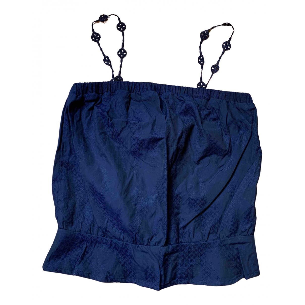Sessun - Top   pour femme en coton - marine
