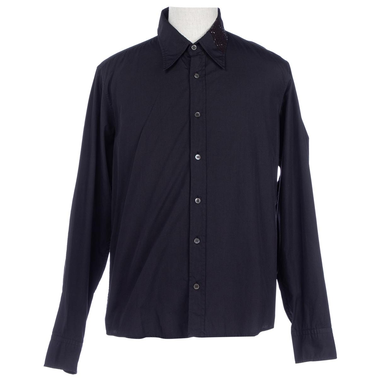 Dries Van Noten N Black Cotton Shirts for Men XL International