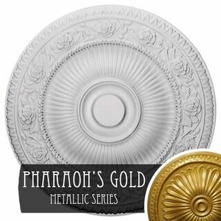 24 1/4OD x 2P Neuveau Ceiling Medallion (Pharaohs Gold)