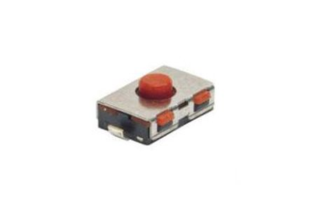 TE Connectivity Red Cap Tactile Switch, Single Pole Single Throw (SPST) 50 mA 0.8mm Surface Mount (10)