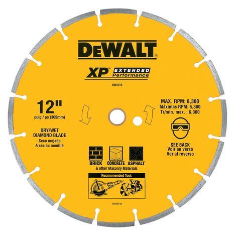 DeWalt 12 In. XP General Purpose Segmented Diamond Blade