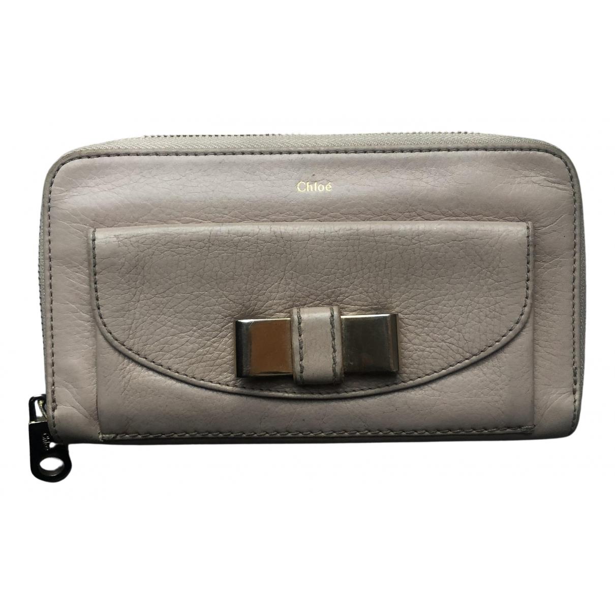 Chloé N Beige Leather wallet for Women N