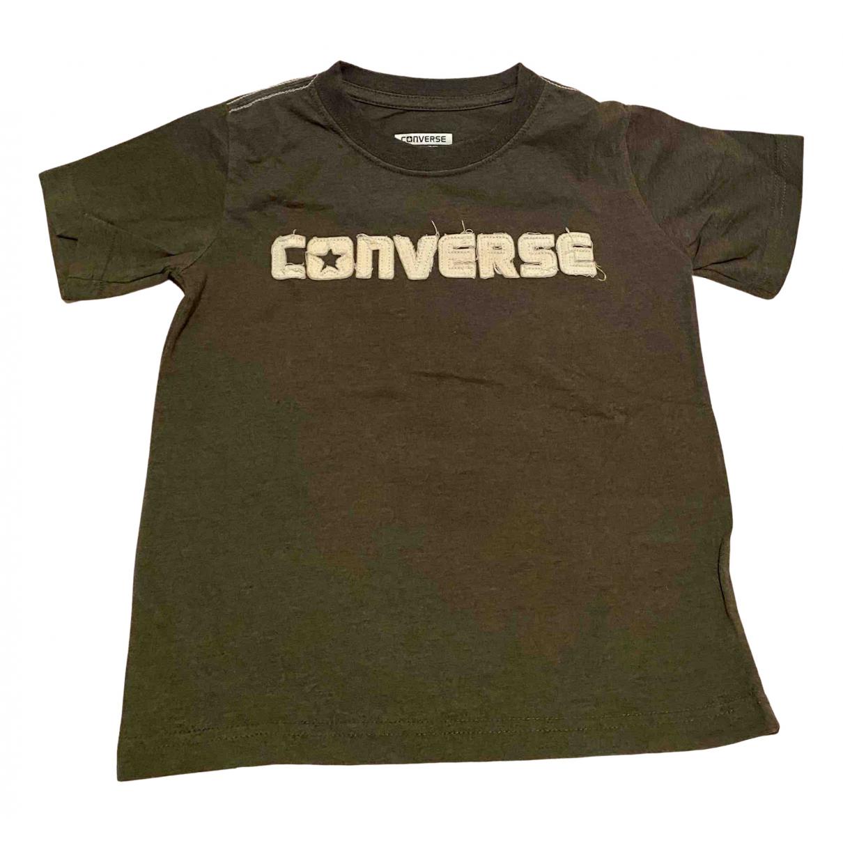 Converse - Top   pour enfant en coton - kaki