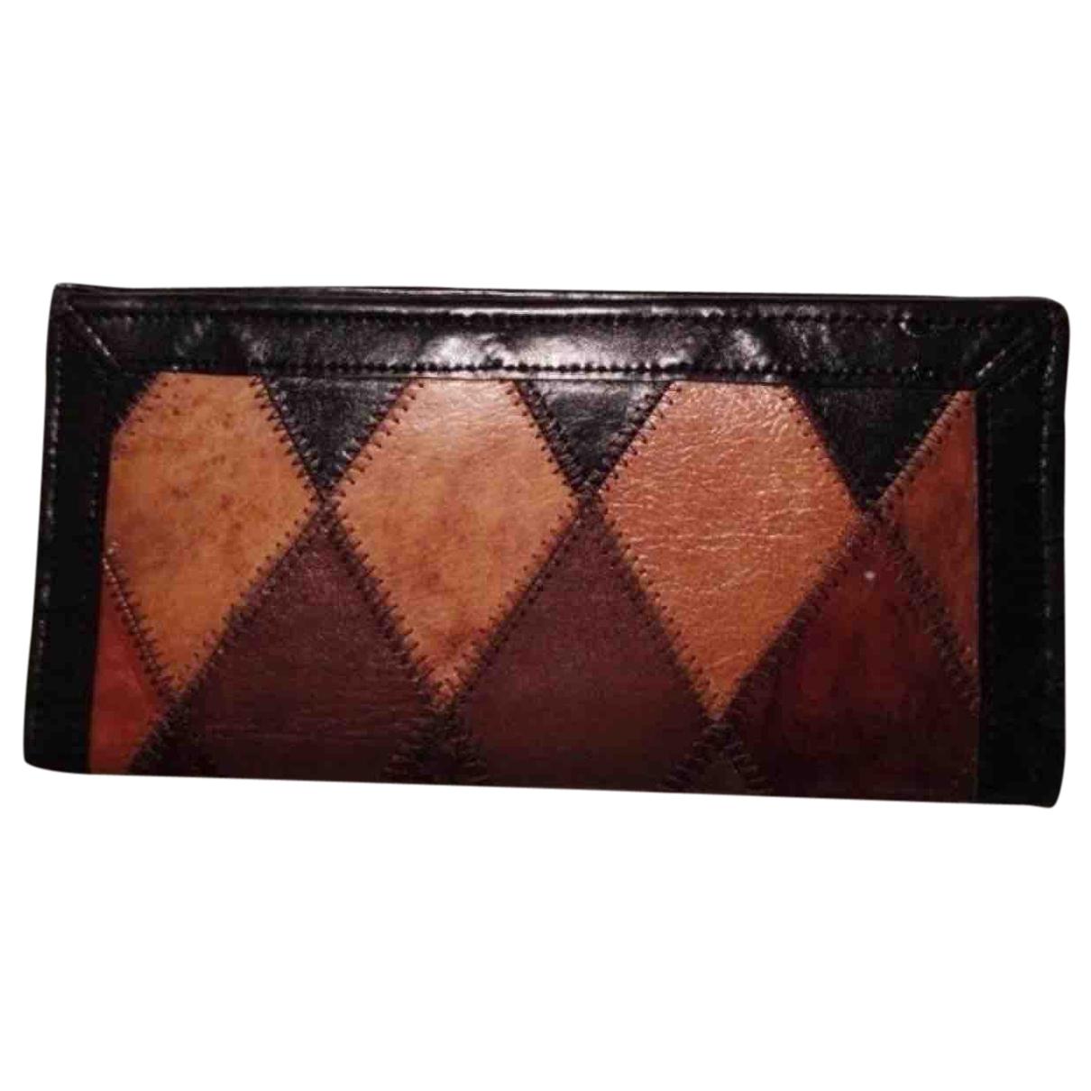 - Portefeuille Hippie Chic pour femme en cuir - marron