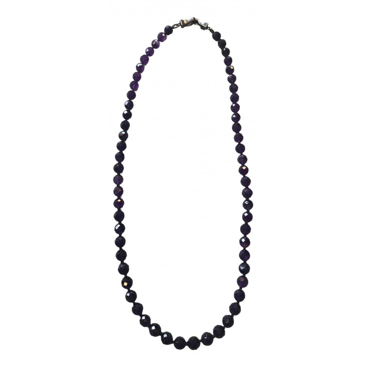 Bottega Veneta - Sautoir   pour femme en perles - violet
